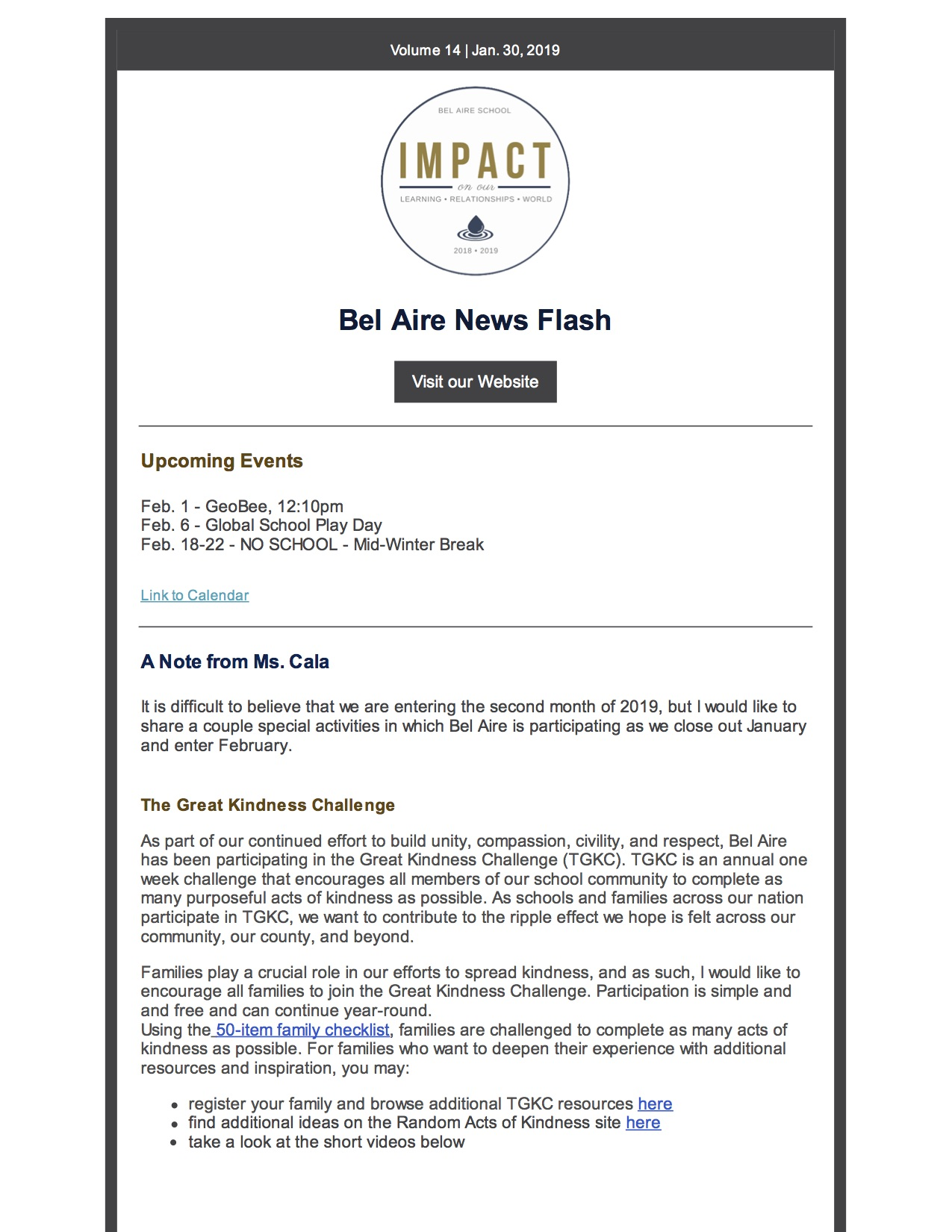 506ac2d111b Bel Aire Elementary School News Flash